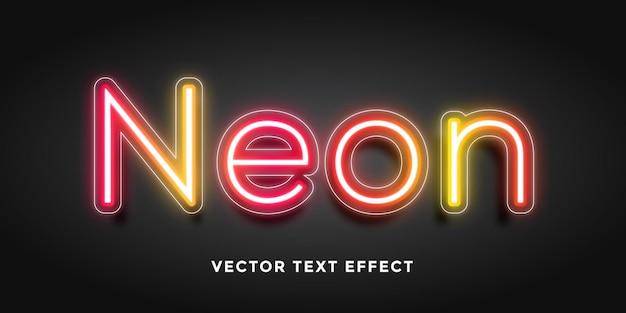 Efeito de texto editável em neon
