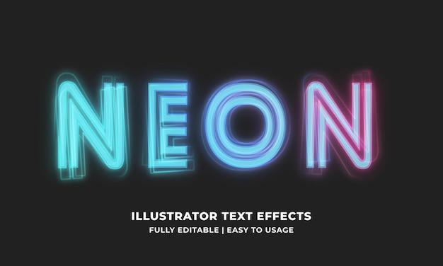 Efeito de texto editável em néon