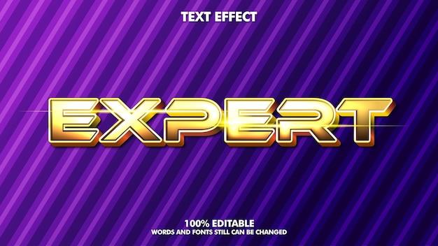 Efeito de texto editável em ouro brilhante