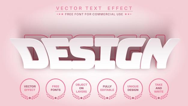 Efeito de texto editável em papel colado