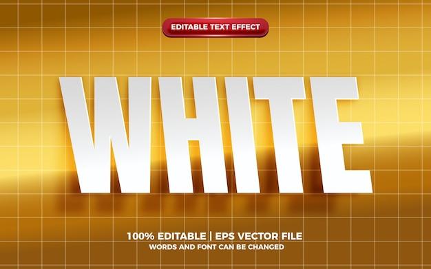 Efeito de texto editável em papel recortado branco realista em fundo dourado