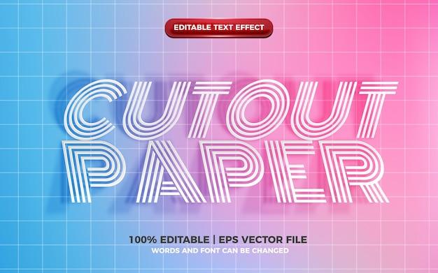 Efeito de texto editável em papel recortado realista