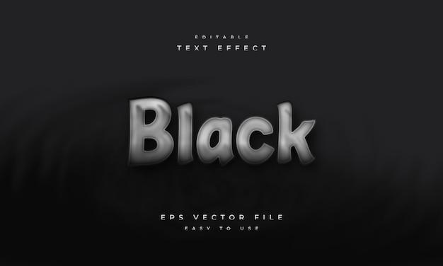 Efeito de texto editável em preto