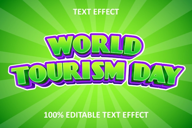 Efeito de texto editável em quadrinhos chiques, verde e roxo