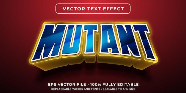 Efeito de texto editável em quadrinhos estilo super-herói mutante