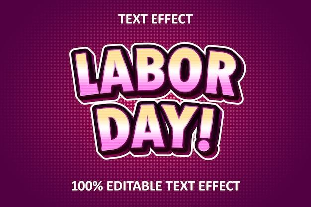 Efeito de texto editável em quadrinhos rosa roxo