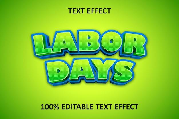 Efeito de texto editável em quadrinhos verde amarelo azul