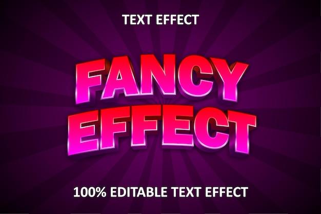 Efeito de texto editável em quadrinhos vermelho roxo
