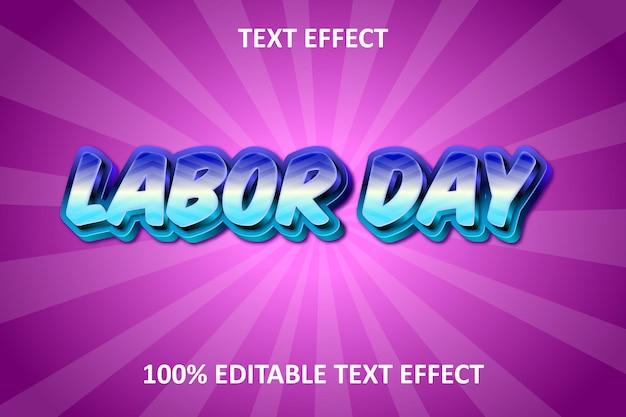 Efeito de texto editável em relevo arco-íris azul-rosa