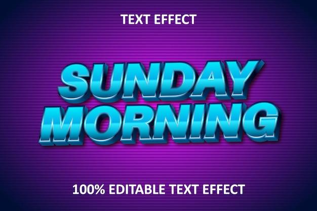 Efeito de texto editável em relevo azul roxo