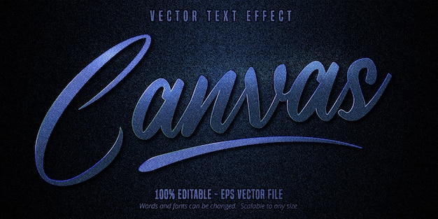 Efeito de texto editável em tela