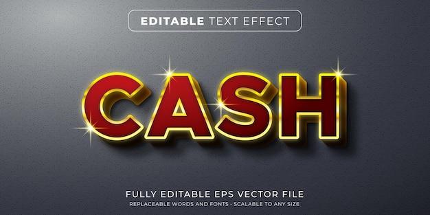 Efeito de texto editável em um elegante estilo vermelho e dourado