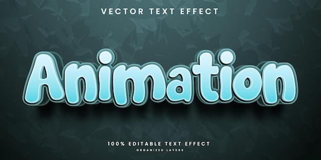 Efeito de texto editável em vetor premium de estilo de animação