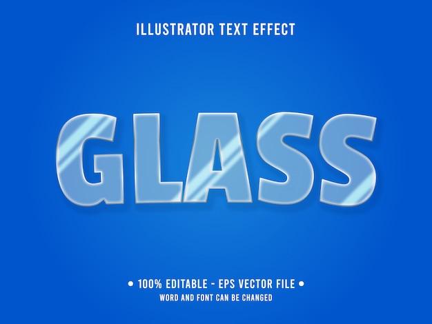 Efeito de texto editável em vidro