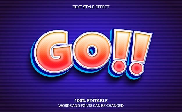 Efeito de texto editável, escolha o estilo de texto cômico