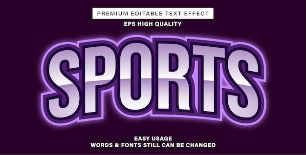 Efeito de texto editável - esportes