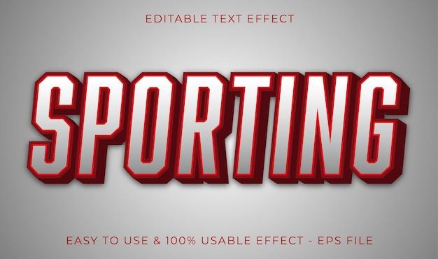 Efeito de texto editável esportivo