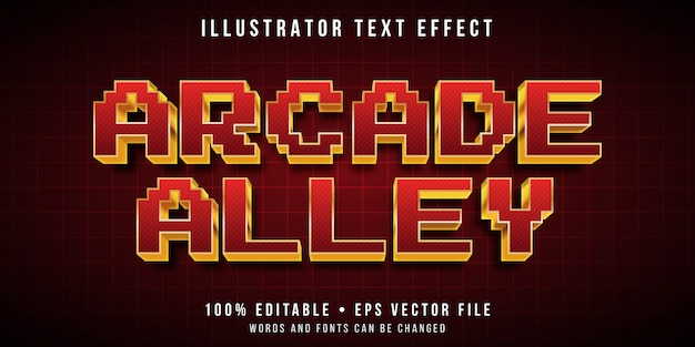 Efeito de texto editável - estilo 3d pixel de arcada
