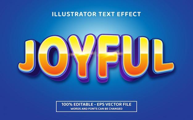 Efeito de texto editável, estilo alegre