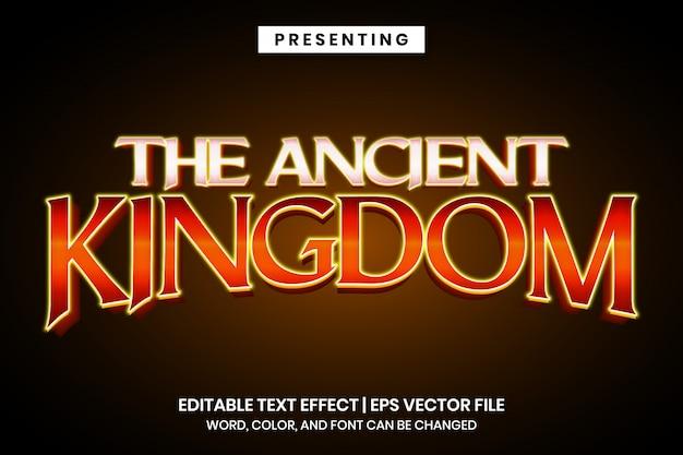 Efeito de texto editável - estilo antigo logotipo do jogo vintage