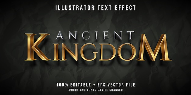 Efeito de texto editável - estilo antigo reino