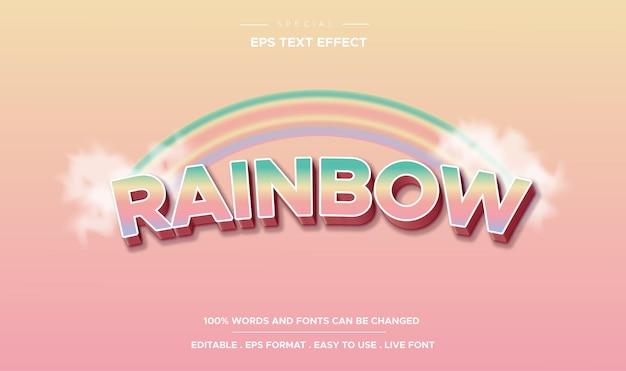 Efeito de texto editável, estilo arco-íris