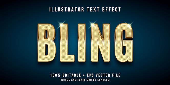 Efeito de texto editável - estilo bling