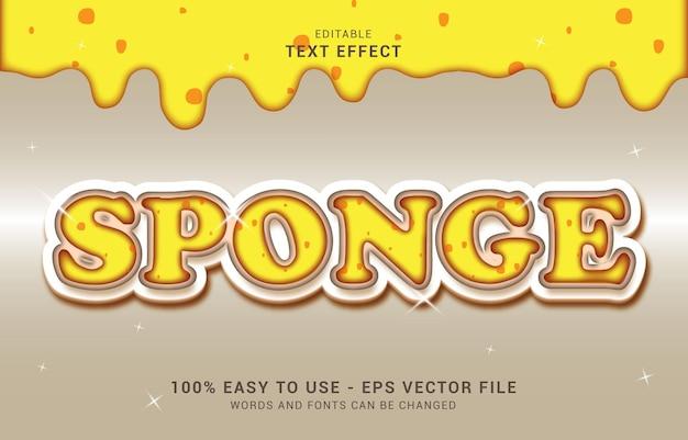 Efeito de texto editável, estilo bolo esponja pode ser usado para fazer título