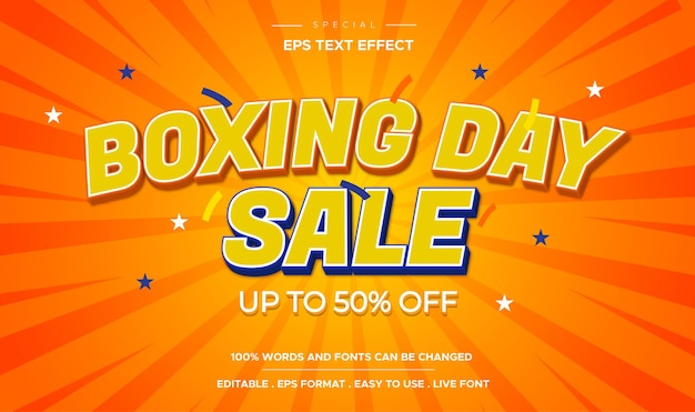 Efeito de texto editável estilo boxing day sale