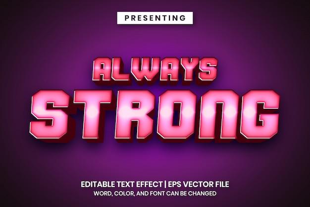Efeito de texto editável - estilo brilhante forte