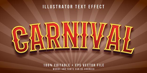 Efeito de texto editável - estilo carnaval