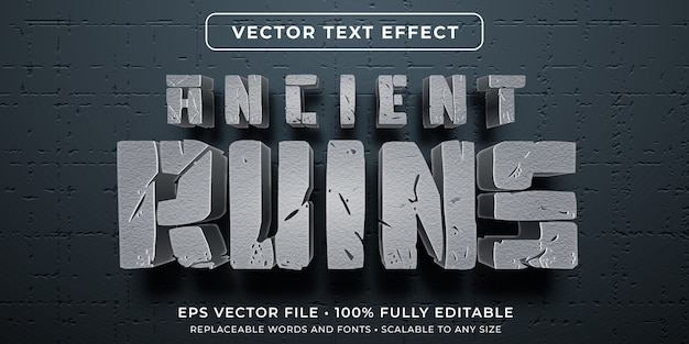 Efeito de texto editável - estilo da civilização antiga