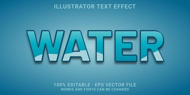 Efeito de texto editável - estilo de água