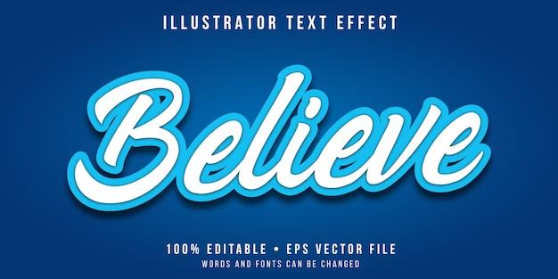 Efeito de texto editável - estilo de caligrafia branca e azul