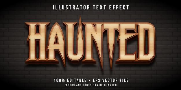Efeito de texto editável - estilo de casa mal-assombrada