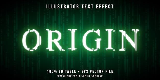 Efeito de texto editável - estilo de códigos de falha