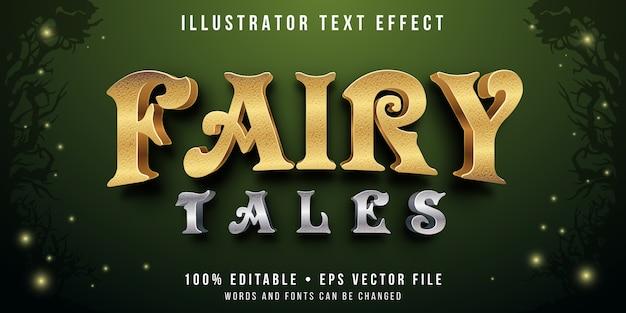 Efeito de texto editável - estilo de conto de fadas