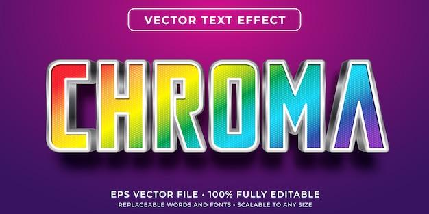 Efeito de texto editável - estilo de cor cromática