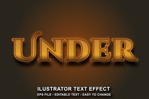 Efeito de texto editável estilo de cor dourada