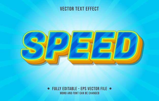 Efeito de texto editável - estilo de cor gradiente de azul e amarelo rápido