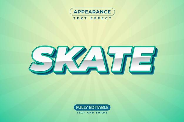 Efeito de texto editável estilo de efeito de skate