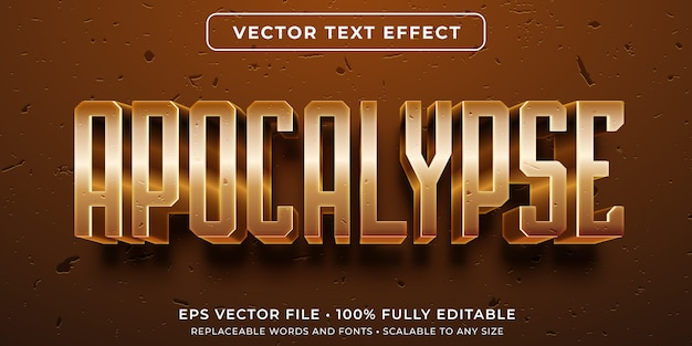 Efeito de texto editável - estilo de evento apocalíptico