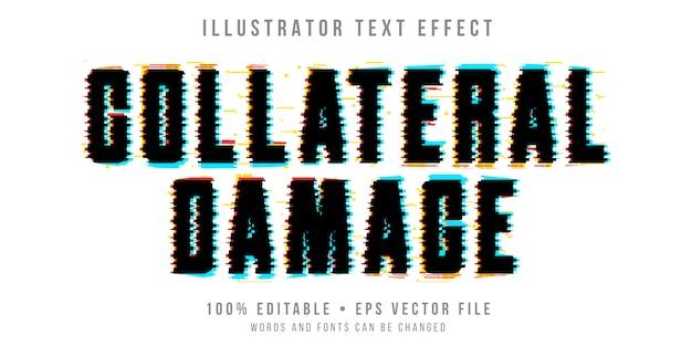 Efeito de texto editável - estilo de falha preta