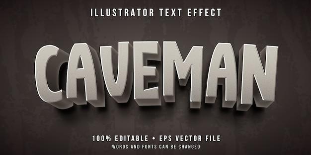 Efeito de texto editável - estilo de homem das cavernas de pedra