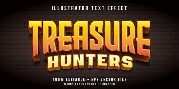 Efeito de texto editável - estilo de jogo de caça ao tesouro