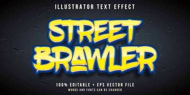 Efeito de texto editável - estilo de jogo de luta