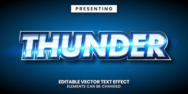 Efeito de texto editável estilo de jogo de metal brilhante