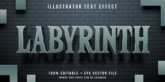 Efeito de texto editável - estilo de jogo labirinto labirinto