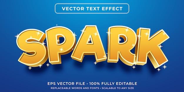 Efeito de texto editável - estilo de letras brilhantes