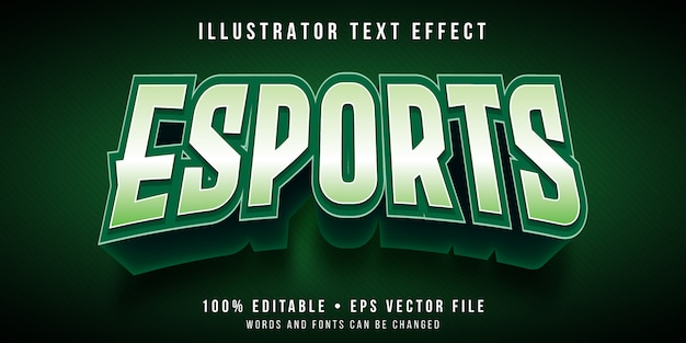 Efeito de texto editável - estilo de logotipo de jogos esports